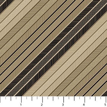 Northcott Joel's Ties 20683-34 Tan/Black `