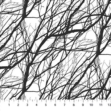 Northcott Silhouette Black Branches 23986-99