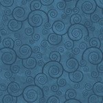 Quilting Treasures Harmony Flannel 24778QBFLN Curly Scroll Teal `