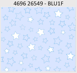 P&B Textiles Beaux Be'Be' Flannel 26549-BLU1F Stars Blue '