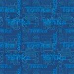 Camelot Fabrics Tonka Blueprint CAM95060105-01 Blue '