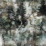 Kanvas Into The Woods II Pine Forest Grey 08723-45 Benartex '