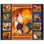 Quilting Treasures Sunshine Farms  27415-N Rooster Panel