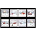 Quilting Treasures Back Home For The Holidays 27697-J Christmas Winter Scenic Picture Patches Panel