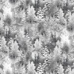 Quilting Treasures Back Home For The Holidays 27700-ZK Pine Trees White and Grey