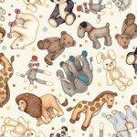 Quilting Treasures Toyland 27777-E Animal Toss Cream