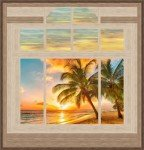 Livin' the Dream & Sunset Reflections Wall Hanging Patterns PS-1026 '