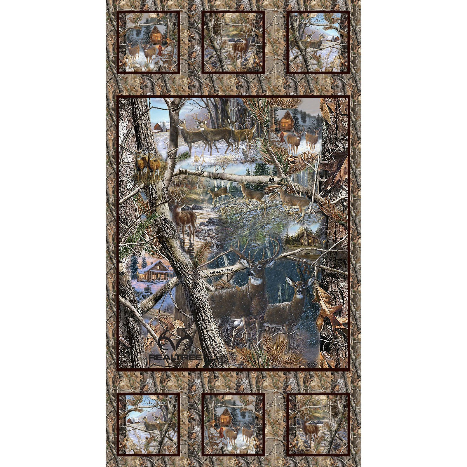 Realtree Winter Panel - Deer `
