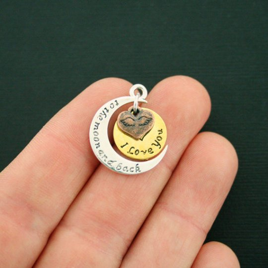 To the Moon and Back Pull Charm `