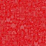 Andover Sun Print Hearts A-9036-O