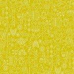 Andover Sun Print  A-9036-G Chartreuse