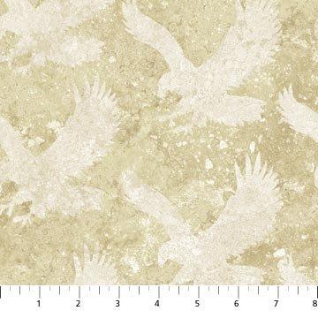 Northcott Stonehenge Stars and Stripes Flannel Eagle  F39103-30 `