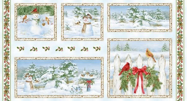 A Winter Song Snowman Fabric Panel*