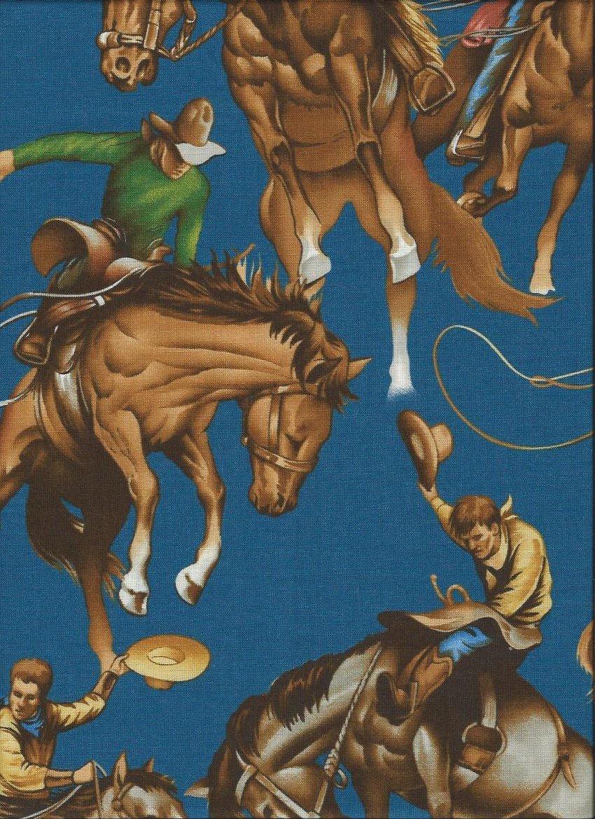 Broncos - Blue 7116-E Alexander Henry Fabric `