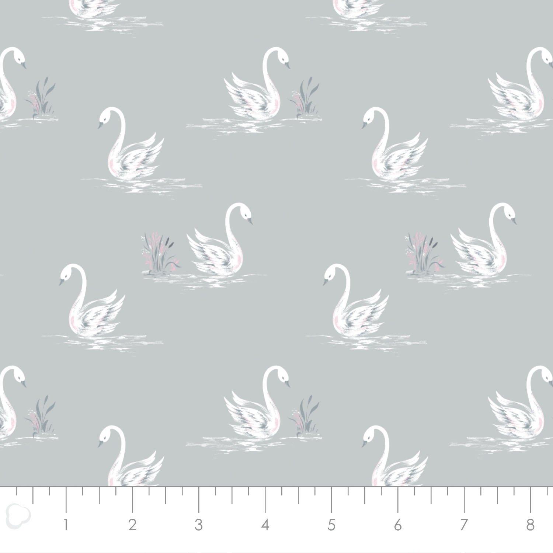 Camelot Fabrics Grace Swans 71170302-01 `