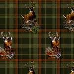 Print Concepts Realtree Deer on Plaid Flannel 10026 `