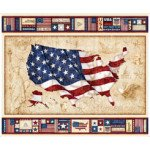 Quilting Treasures American Pride US Flag Panel 1649-26973-X `