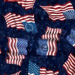Quilting Treasures American Pride Flag Toss Navy 1649-2697-N `