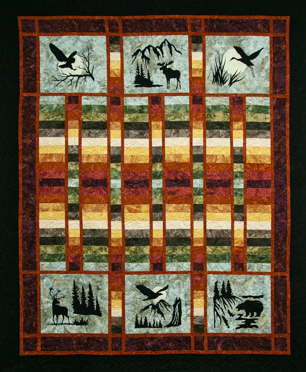 Wildwood Again Autumn Quilt Kit by Northern Threads `