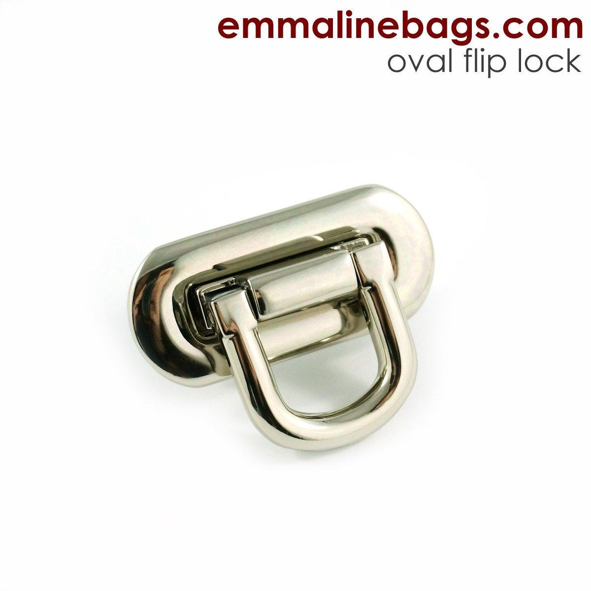 Emmaline Bags Oval Flip Lock FLIPLOCCCK-SM-NL/1`