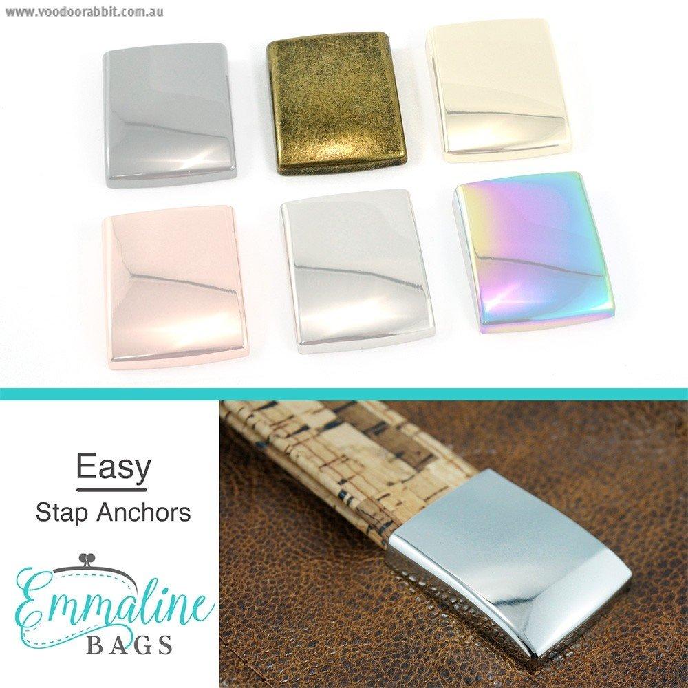 Emmaline Bags Easy Strap Anchors Gunmetal 1ANCH/1483-GM-/4 `