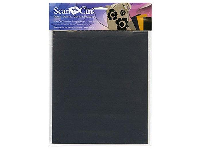 CATSP02 ScanNCut Iron-On Transfer Sample Pack- Film & Flocked `