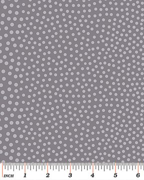 Shades of Winter - A Lot A Dots Silver Grey `