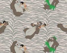 Camelot Fabrics Jungle Book Born to Boogie Grey 85220104-01 `