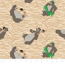 Camelot Fabrics Jungle Book Born to Boogie Tan 85220104-2 `