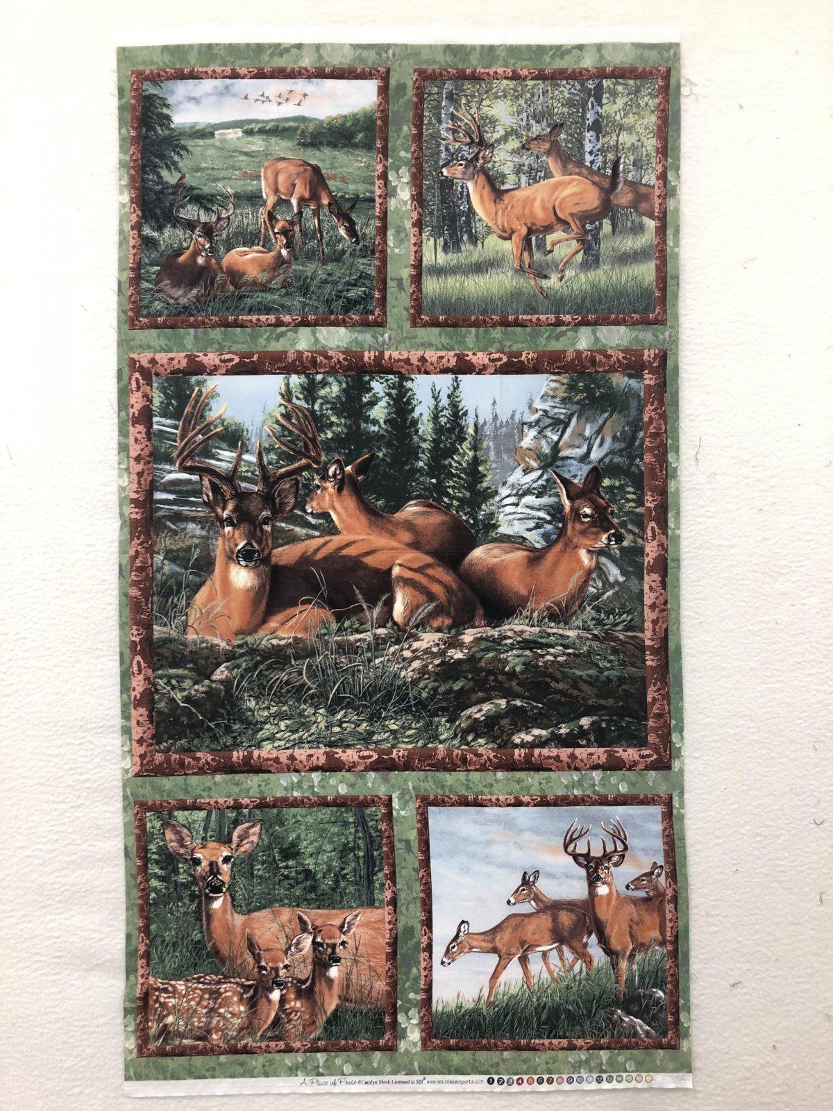 Wilmington Deer Meadow A Place Of Peace Panel Deer  '