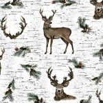 Shannon Fabrics Snow Winter Deer Digital Cuddle DCWINTERDEER '