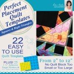 Dime Perfect Placement Quilt Templets Machine Embroidery PPQ0010 '