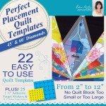 Dime Perfecrt Placement Quilt Templets Diamonds Machine Embroidery PPQ0030 '