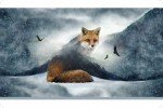 Shannon Cuddle Grey Hoffman Fox Digital Panel HFDCFOXGRAY `