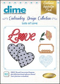 #92  - Embroidery Design Collection - Lots of Love ~