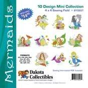Dakota Collectibles Mermaids10 Mini Collection 4x4 Sewing Field