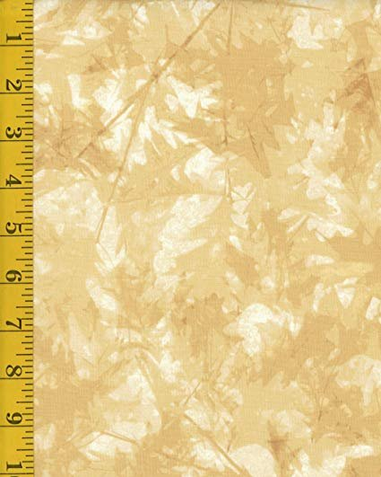 Fall Feast Leaves Dark Butter Fabric `