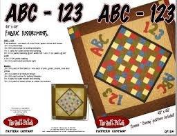 ABC-123 Quilt Pattern `