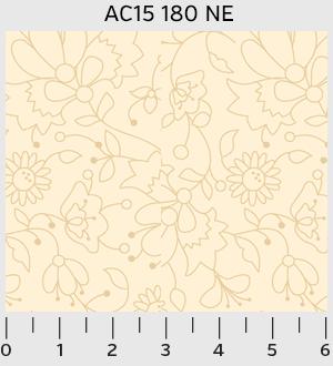P&G Textles Apple Cider 15 Floral Outline AC1500180NE '