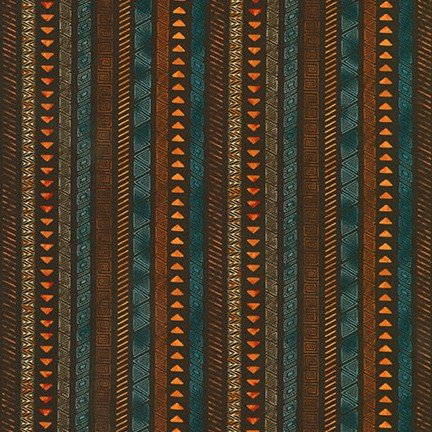 Robert Kaufman Native Heritage Quilting Fabrics.  AKO-73715-16 BROWN