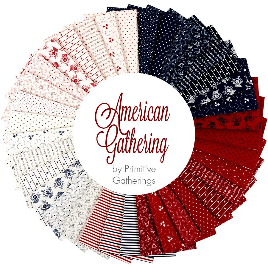 Moda American Gathering Fat Quarter Bundle 49120AB PRE-ORDER
