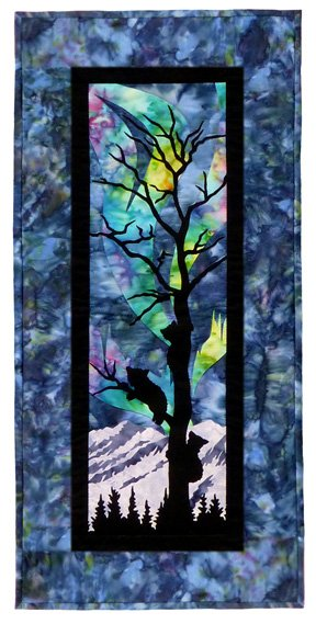 Wildfire Designs Alaska Aurora Nights: From the Treetops Wallhanging Laser Cut Kit plus Pattern WDA1904LKP