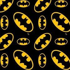 FBX 49 Camlot Fabrics Batman Tossed Logo Flannel 23200022B-01