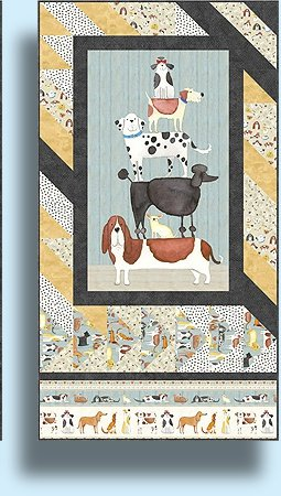 Best Buddies Wall Hanging Pattern - Quilt Poetry by Jane Spolar `