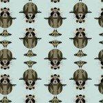 Birch Finch Charley Harper Cats & Raccs BIFCH107