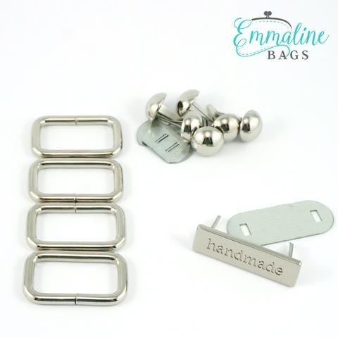 Boronia Bowler Bag - Nickel hardware kit`