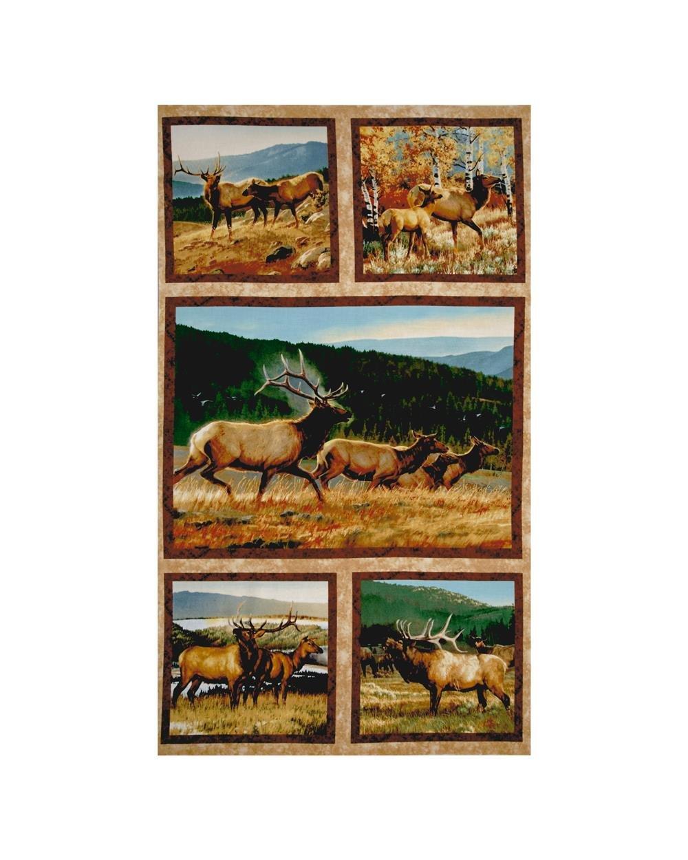 Breaking Light Elk Fabric Panel  =..