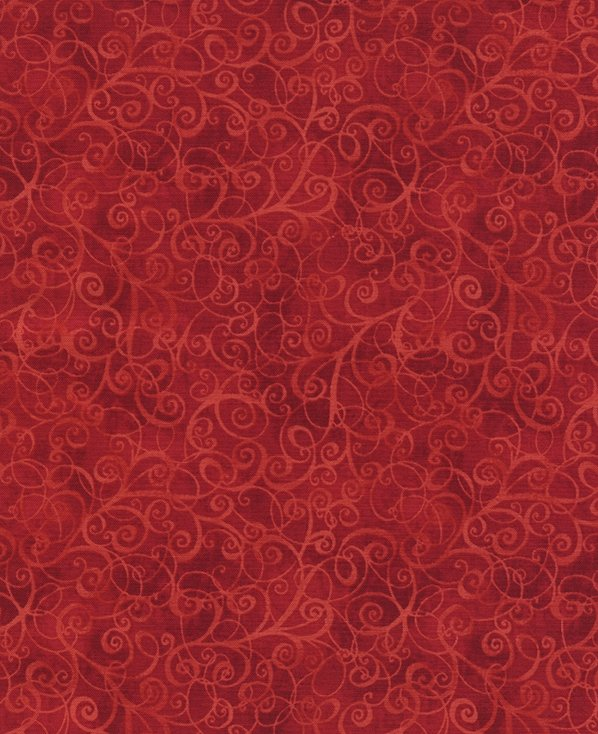Timeless Treasures Breeze Flannel CF4843-Red Scroll `