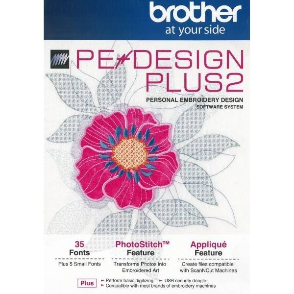 Brother Pe Design Plus 2 Embroidery Software 012502645450