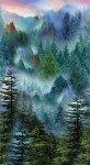 Timeless Treasures C7464-Multi Mountain Side Effervesent Forest Panel '